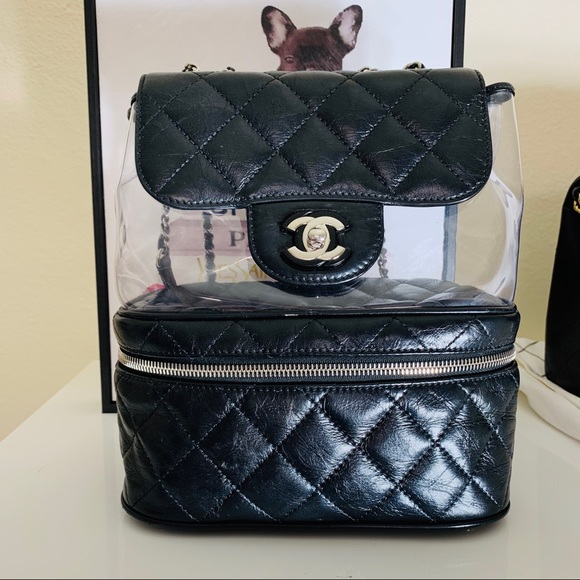 5440bd7a CHANEL PVC Crumpled Calfskin Shoulder Bag